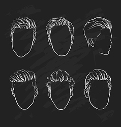 Hand drawn hipster fashion Man hair vector image