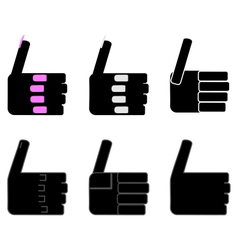 Hand sign thumbs up vector image
