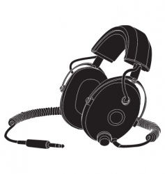 headphones outline vector image vector image