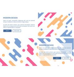 modern design website page vector image