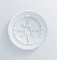paper circle flat icon with a shadow compass vector image vector image