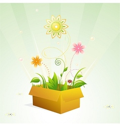 Spring in the box vector image vector image