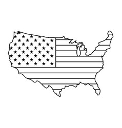 united states of america map vector image