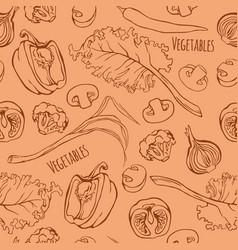 Vegetables seamless pattern vector