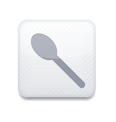 white teaspoon icon Eps10 Easy to edit vector image