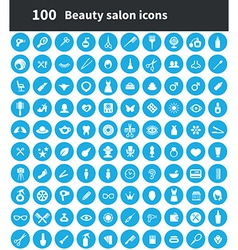 100 beauty salon icons vector image vector image