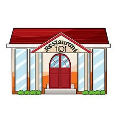 A restaurant vector image