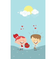 Valentines gift vector
