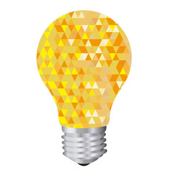 Background with yellow light bulb and abstract vector