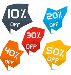 Discount web labels set vector