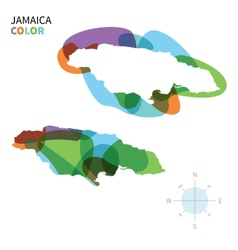 Abstract color map of jamaica vector