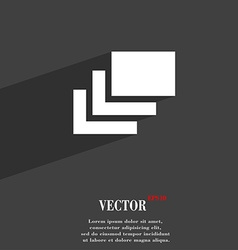 Layers icon symbol flat modern web design with vector