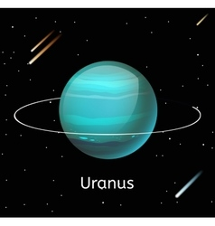 Uranus planet 3d vector