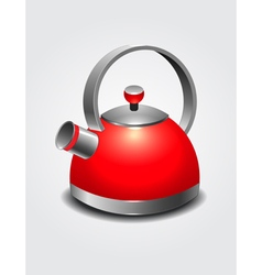 Red kettle art vector