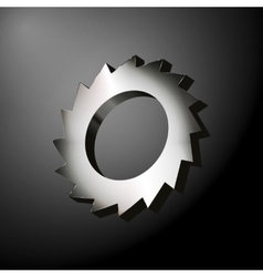 Circular saw wheel vector