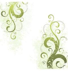 artistic floral motif vector image