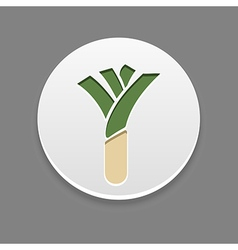 Leek icon vegetable vector