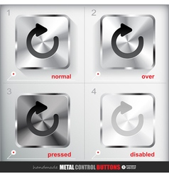 Set of four positions of metal reload button vector