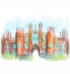hampton court vector image