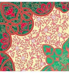 floral arabesque background vector image