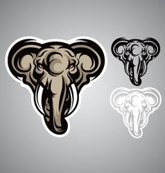 elephant head emblem logo vector image