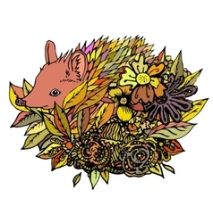 Abstract colored hedgehog print vector
