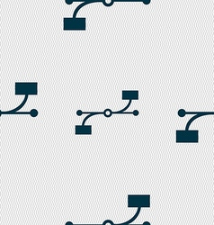 Bezier curve icon sign seamless abstract vector