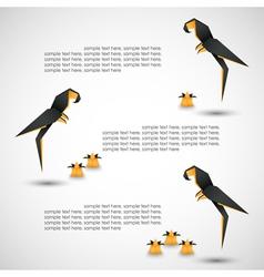 bird origami vector image