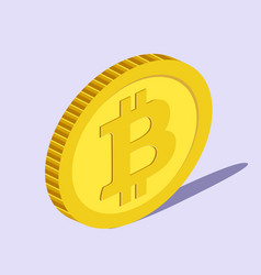 bitcoin abstract coin isometric vector image