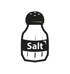 black salt shaker icon vector image vector image