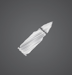 Bullet sketch logo doodle icon vector