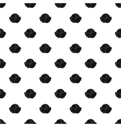 Cabbage pattern simple style vector