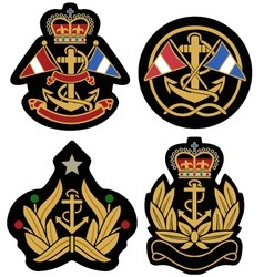 classic nautical royal emblem badge shield vector image