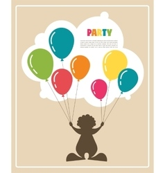 clown holding colorful baloons vector image
