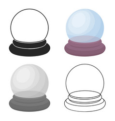 Crystal ball icon in cartoon style isolated on vector