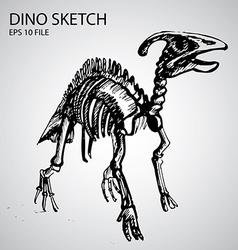 Dinosaur sketch vector