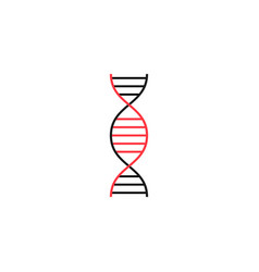 dna solid icon medical element and genetic sign vector image