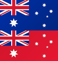 Flag of Australia Australian Red Ensign vector image