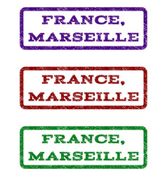 France marseille watermark stamp vector