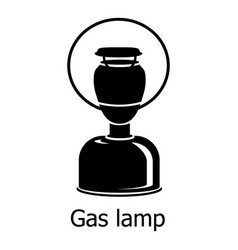 gas lamp icon simple black style vector image