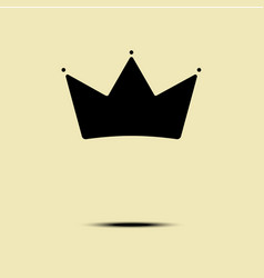 geometric vintage crown logo minimalism design vector image