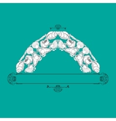 Hand drawn ornament with shells and vector image