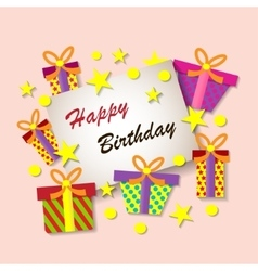Happy Birthday Greeting Card Colorful festive vector image vector image