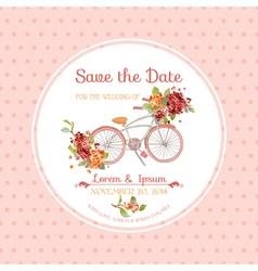 Invitation or Congratulation Card - for Wedding vector image vector image