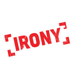 Irony rubber stamp vector
