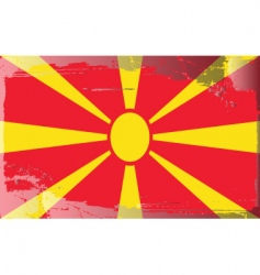 Macedonia national flag vector image