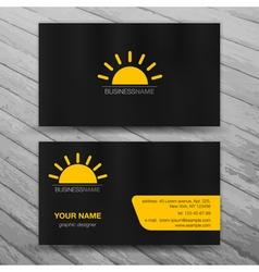 Modern business cards templates set vector