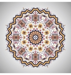 Ornamental round pattern in aztec style vector