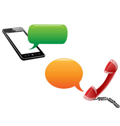 Phone communication background vector