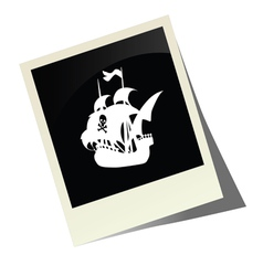 Pirate boat picture vector